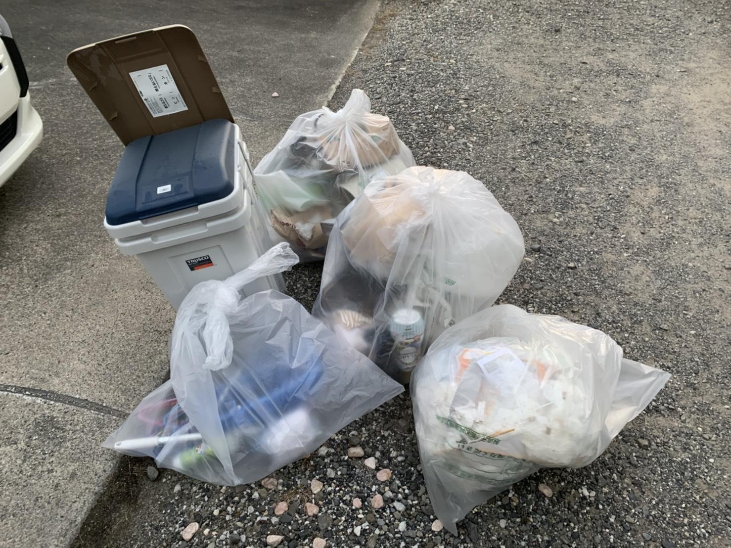 ゴミ箱の回収前