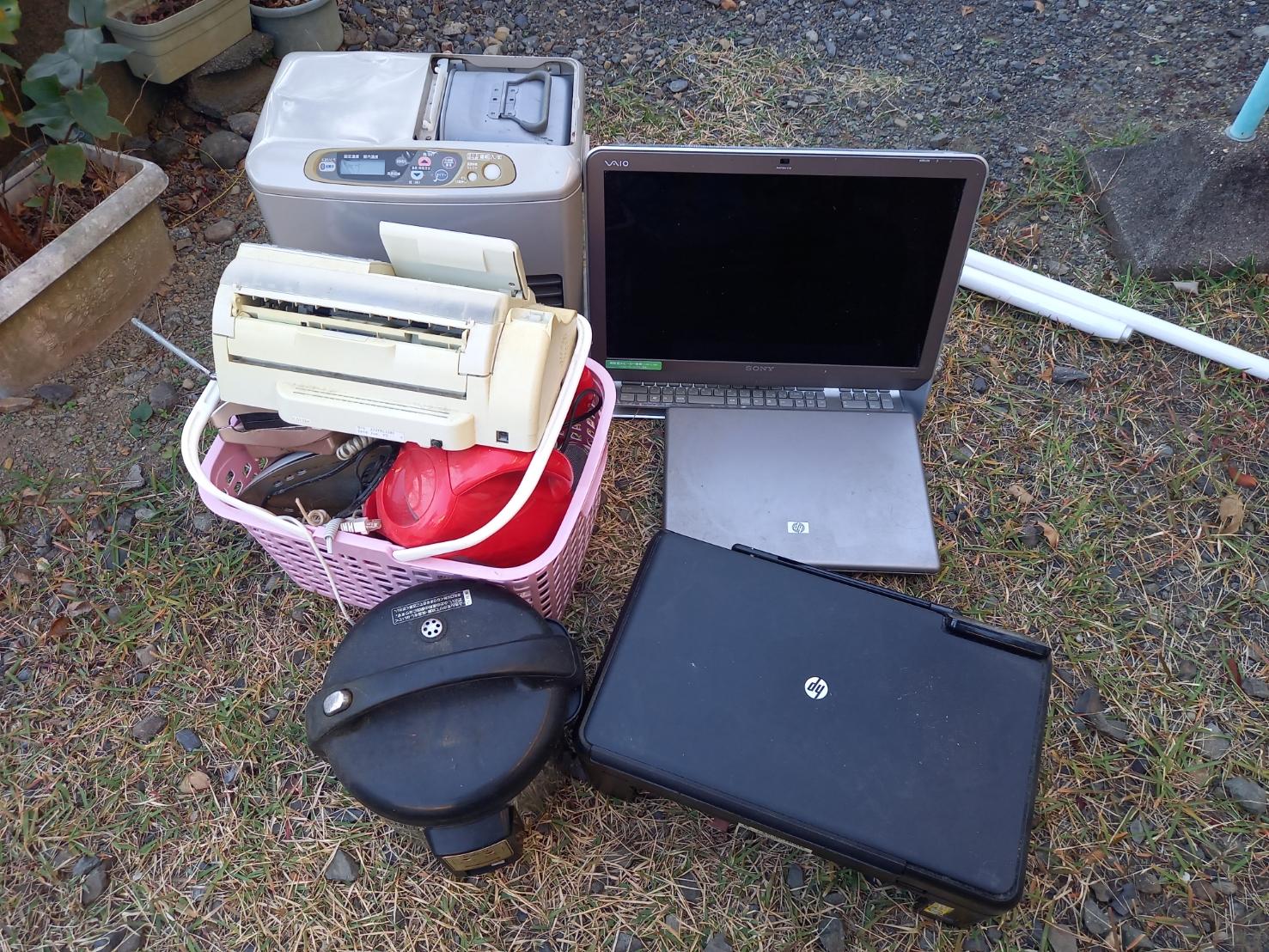 PCなどの家電製品の回収前