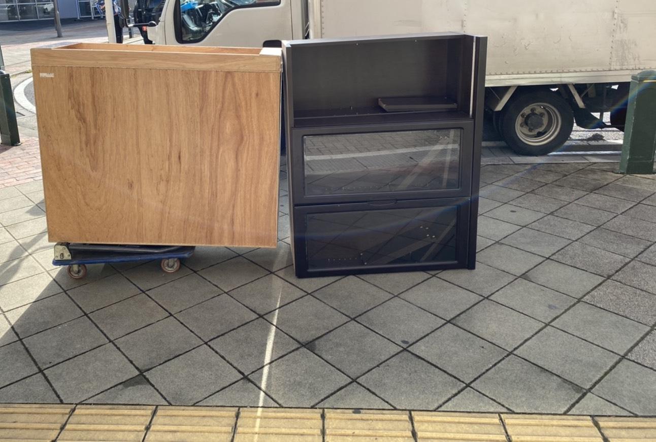 収納棚、カラーボックスの回収前