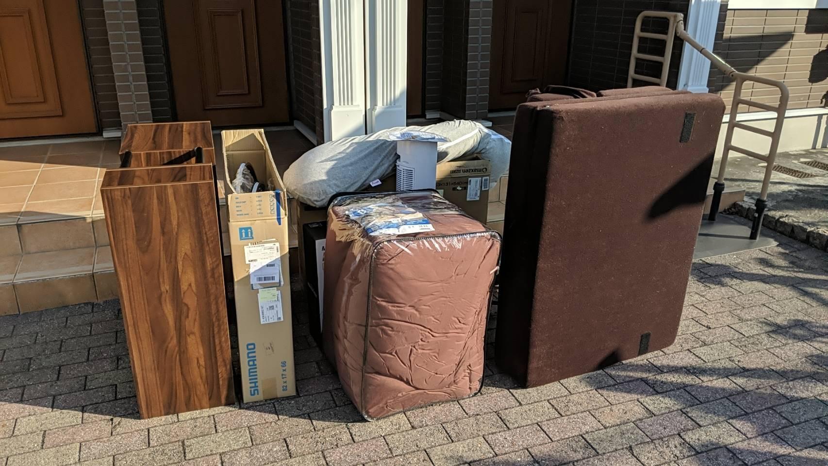 ソファーやチェストなどの家具の回収前