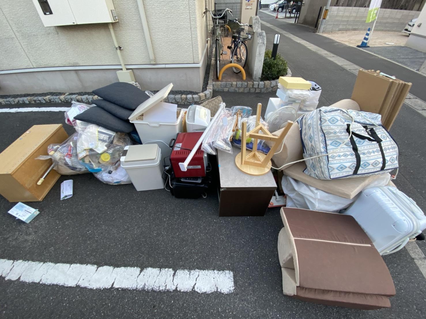 雑貨類が中心の不用品の回収前